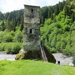 Svan tower for protection against enemy and natural disasters.