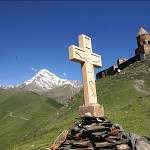The Tsminda Sameba church, Kazbegi.