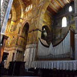 Interior of the Capella Palatina, showing the pipes of the organ.
