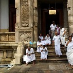 By the temple of the sacred tooth relic.